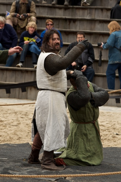 Goulven fighting at the Mid Zomer Fair 2010